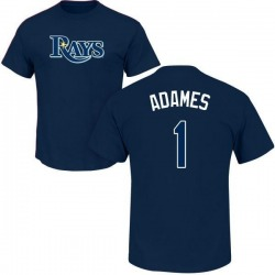 Youth Willy Adames Tampa Bay Rays Roster Name & Number T-Shirt - Navy